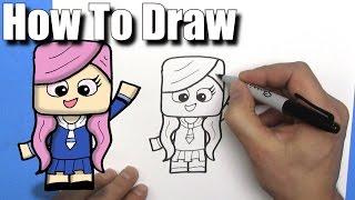 How To Draw a Cute Cartoon LDShadowLady - EASY Chibi - Step By Step - Kawaii