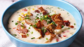 Instant Pot Summer Corn And Bacon Soup • Tasty
