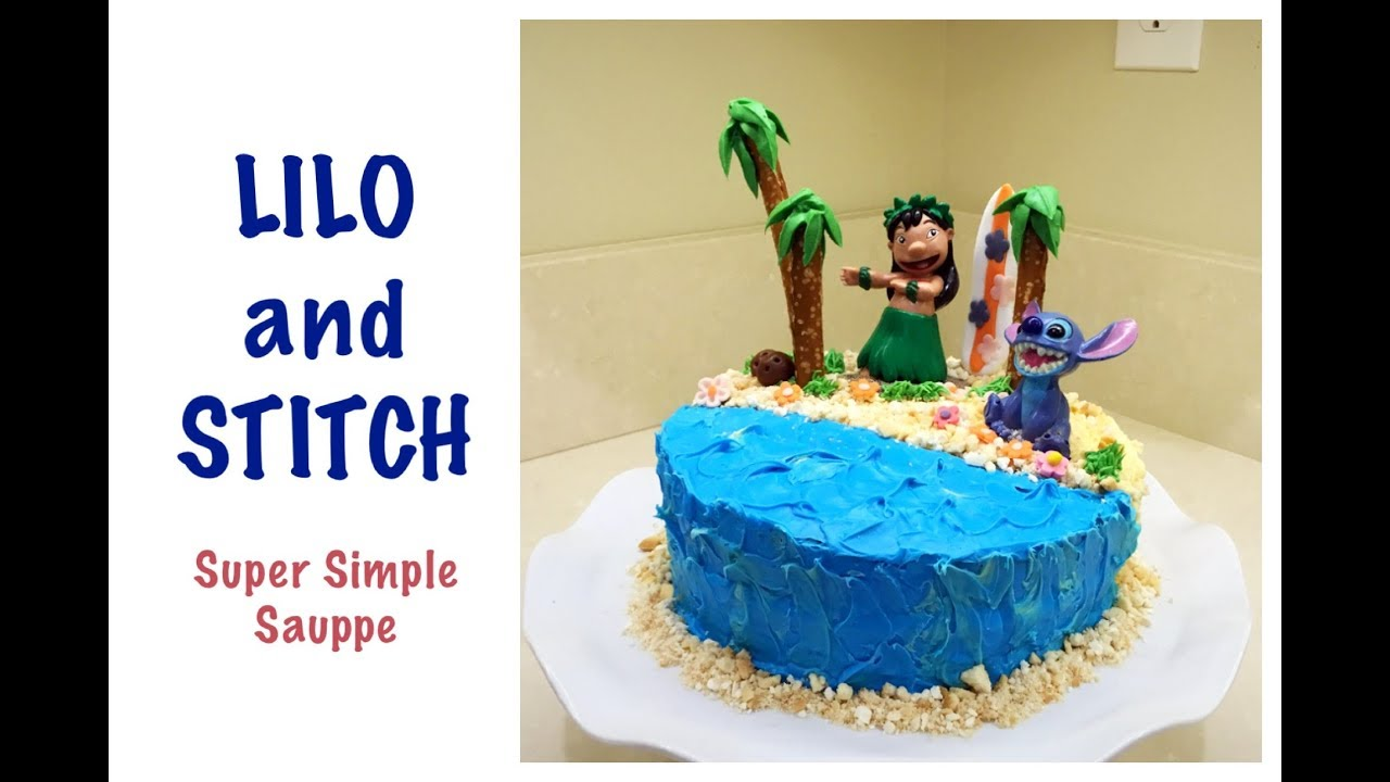 Lilo And Stitch Cake Super Simple With Kids Youtube