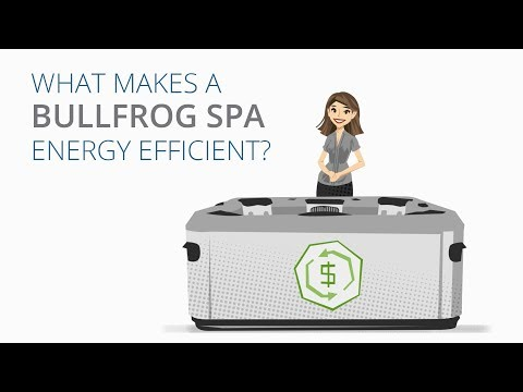 What makes a Bullfrog Spa so energy efficient?