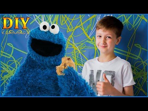 Коржик любит ПЕЧЕНЬКИ Делаем коврик из Коржика! DIY Маппеты Улица Сезам Куки Монстр Сookie Monster