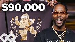 2 Chainz Makes a $90K Ugly Christmas Sweater | Most Expensivest Sh*t | GQ