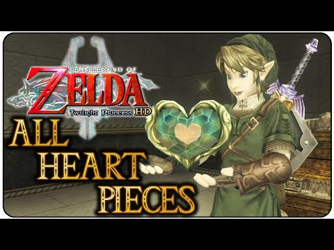 The Legend of Zelda Twilight Princess HD All Heart Pieces