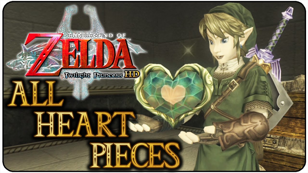 The Legend Of Zelda Twilight Princess Hd All Heart Pieces Youtube