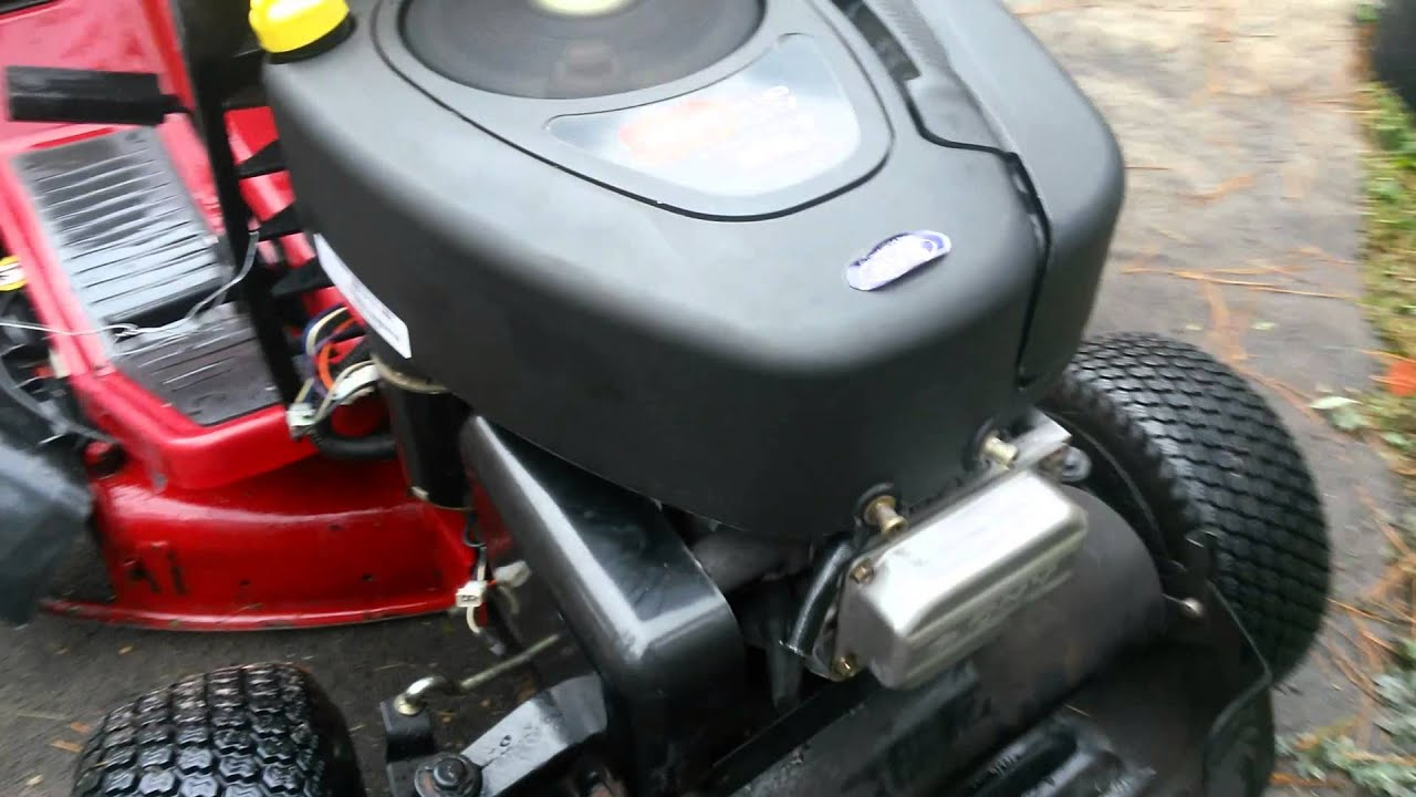 Toro Briggs Stratton 16hp Ohv Engine Running