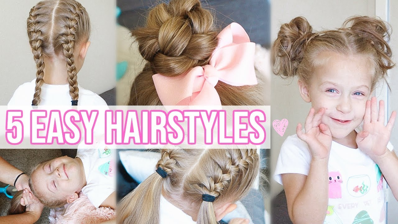 5 Easy Hairstyles For Little Girls Back To School Hairstyles For Girls