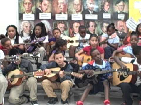 Bill Withers - Lean On Me by The Benoist Farms Elementary School Guitar Group 2016