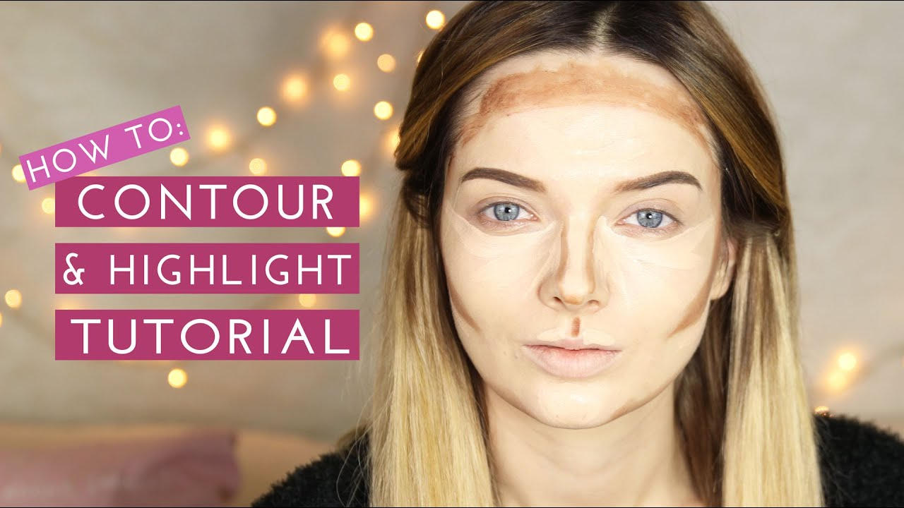 How to contour highlight makeup tutorial mypaleskin youtube baditri Images