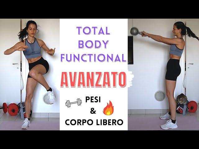 30 min TOTAL BODY FUNZIONALE AVANZATO , pesi + corpo libero, movimenti completi | Silvia Fascians