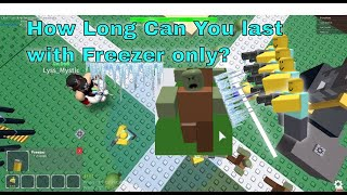 How Far Can you go using Freezer only? Tower Defense Simulator Roblox