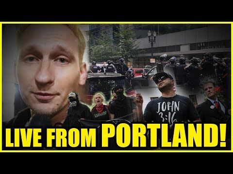 LIVE: Portland Antifa Vs Proud Boys