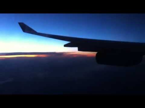 Sunset from an Airbus A340-300
