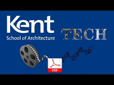 Embedding Video Or Audio Into A PDF Document - Kent School Of Architecture Tech