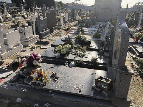 Homem provocou danos em várias campas do cemitério de Urgezes