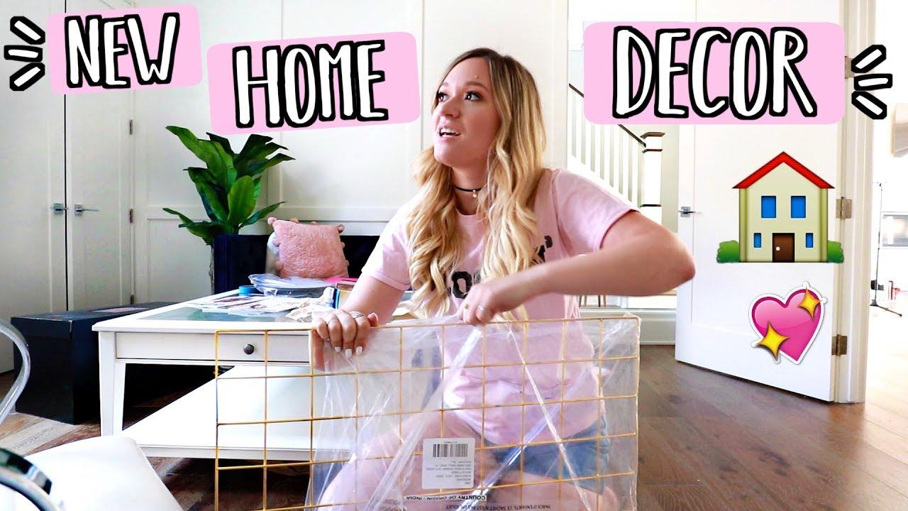 new home decor alishamarievlogs youtube