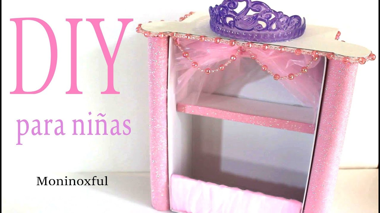 Organizador de ni a con caja de zapatos youtube - Ideas para decorar zapatos de nina ...