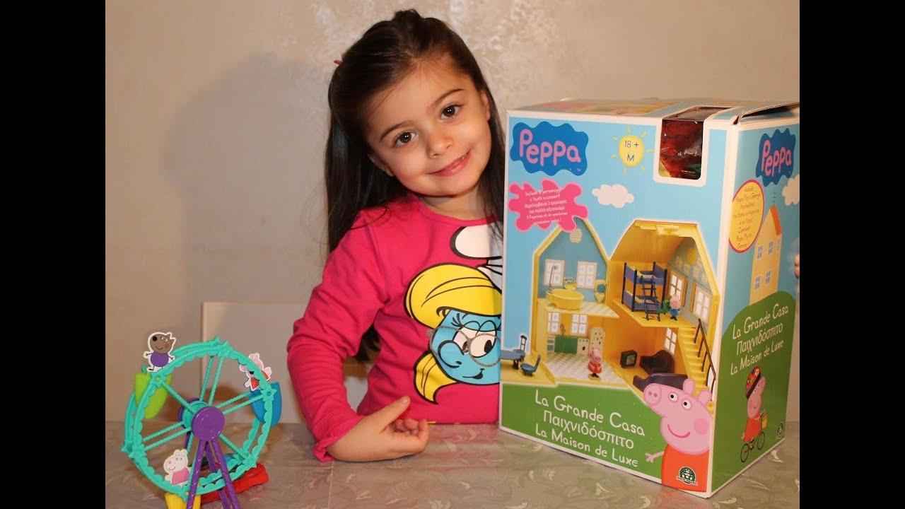 finest selection 435a2 8220f Peppa pig gioco della grande casa di peppa e george toys
