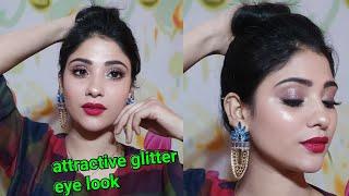 Attractive glitter eyemakeup    beginner friendly    shystyles