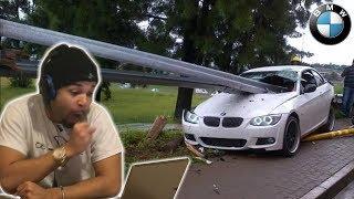 REACTING TO BMW CAR CRASH COMPILATIONS
