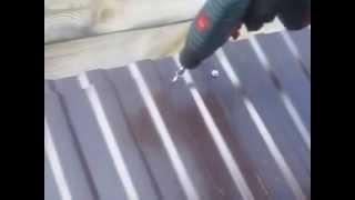 видео Как вывести трубу через профнастил? Решение.