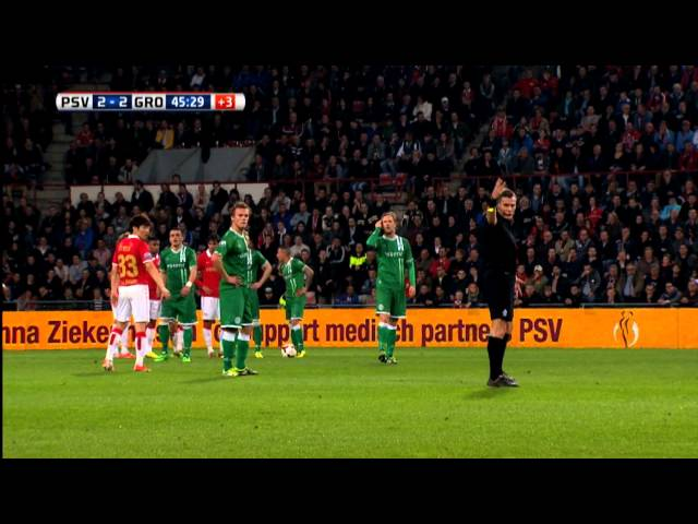 Samenvatting PSV - FC Groningen 2-3 (2014)