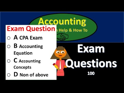 100.100 Test Question Practice Problems Accounting Equation
