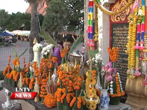 Lao NEWS on LNTV:  President Choummaly among thousands of people pays homage to Thatluang.7/11/2014