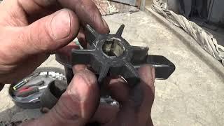 Ремонт охлаждения лодочного мотора (Замена крыльчатки) (Repair-replacing the impeller)