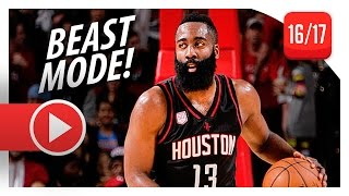 James Harden UNREAL Triple-Double vs Knicks (2016.12.31) - 53 Pts, 17 Ast, 16 Reb, EPIC!