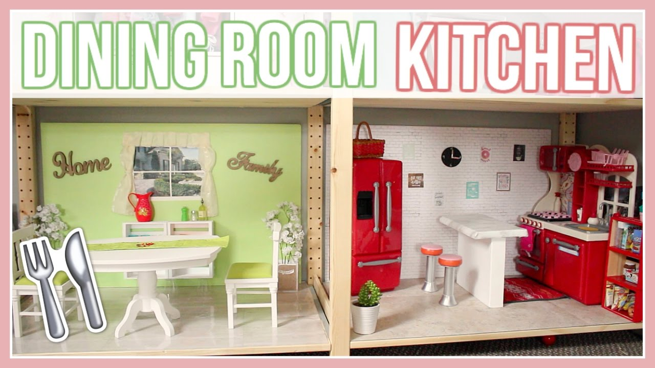 Diy Kitchen Dining Room How To Make An American Girl Doll Dining Room And Kitchen Ep 3