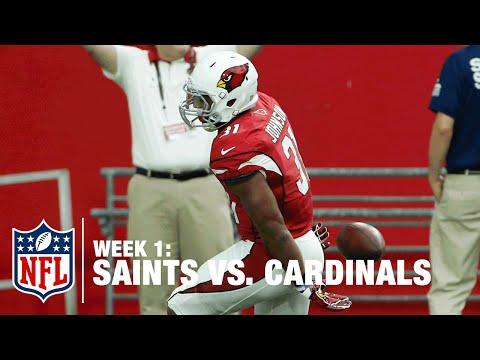 Cardinals Rookie RB David Johnson Scores 55-Yard TD | Saints vs. Cardinals | NFL