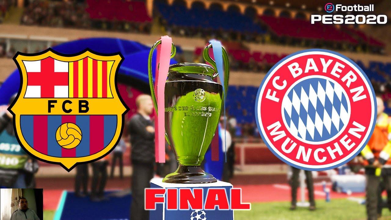 Download PES 2020   UEFA Champions League Final   Barcelona vs Bayern Munchen Full Match   All Goals HD