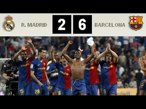 REAL MADRID 2 - BARCELONA 6 (02 May 2009) AUDIO SER - YouTube