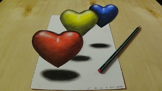 Repeat youtube video Coloring 3D Hearts