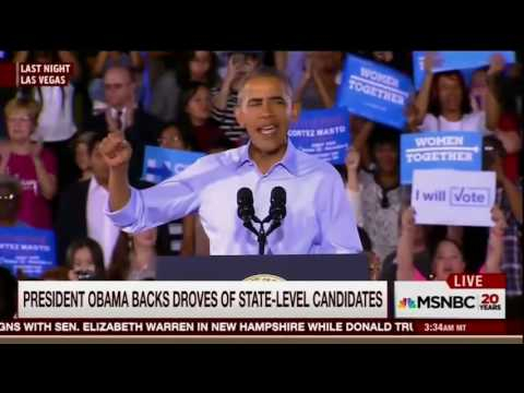 President Obama stumps for Catherine Cortez-Masto