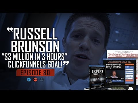 "Russell Brunson's Insane ""$3 Million In 3 Hours"" ClickFunnels Goal!"