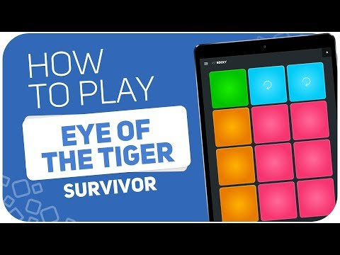 How to play: EYE OF THE TIGER (Survivor) - SUPER PADS - Kit ROCKY