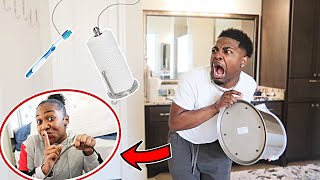 HILARIOUS Haunted Bathroom PRANK On My Boyfriend!