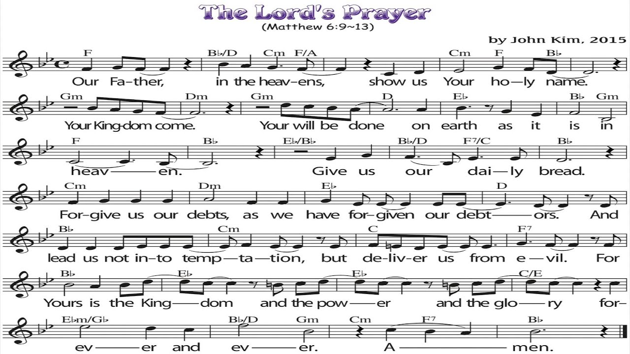 the lord u0027s prayer for kids youtube