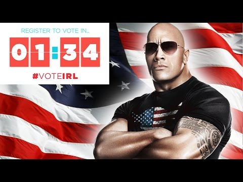 """Register to Vote in 1:34 with Dwayne """"The Rock"""" Johnson! 