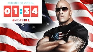 Register to Vote in 1:34 with Dwayne The Rock Johnson! | #voteIRL