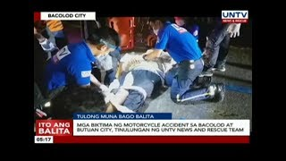 Biktima ng motorcycle accident sa Bacolod at Butuan City tinulungan ng UNTV News and Rescue