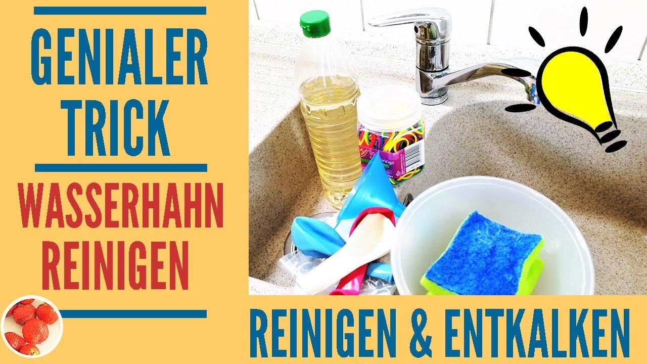 Genialer Trick: Stark verkalkten Wasserhahn mühlos reinigen und entkalken  mit diesem Hausmittel