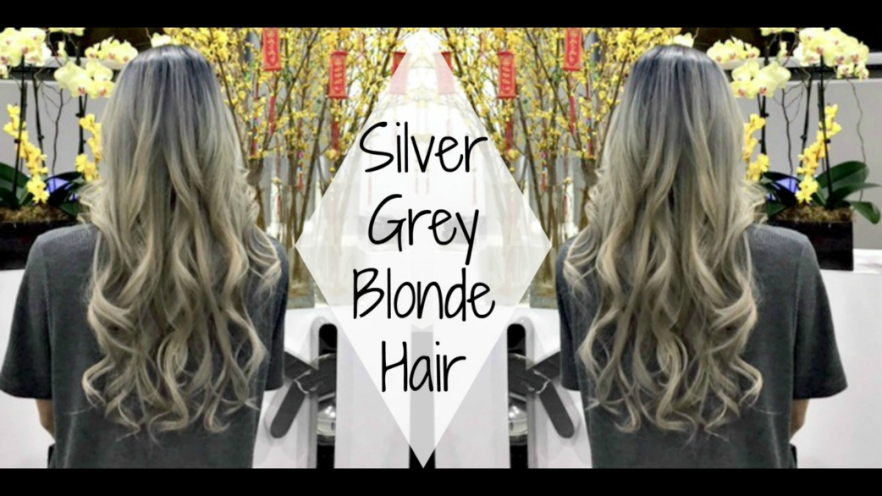 Asian Brown Hair To Silver Grey Blonde Hair Getting My