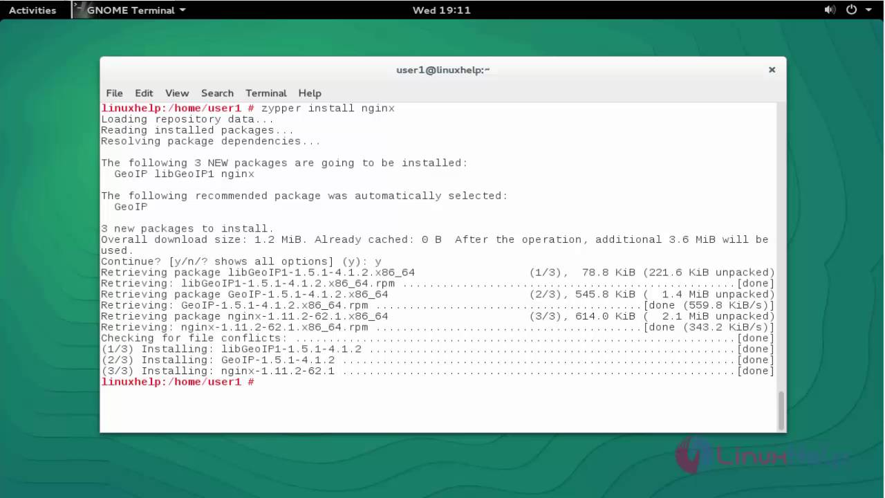 How to install Nginx web server in OpenSUSE | LinuxHelp Tutorials