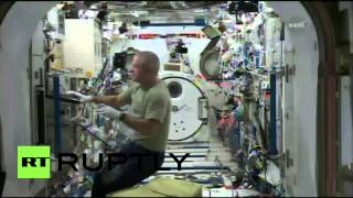 Space: ATV 5 docks with ISS