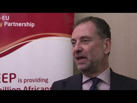 "Felice Zaccheo, EU Commission: ""The Africa-EU Energy Partnership unites stakeholders."""