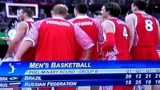 Олимпиада 2012 баскетбол Россия-Бразилия 75-74