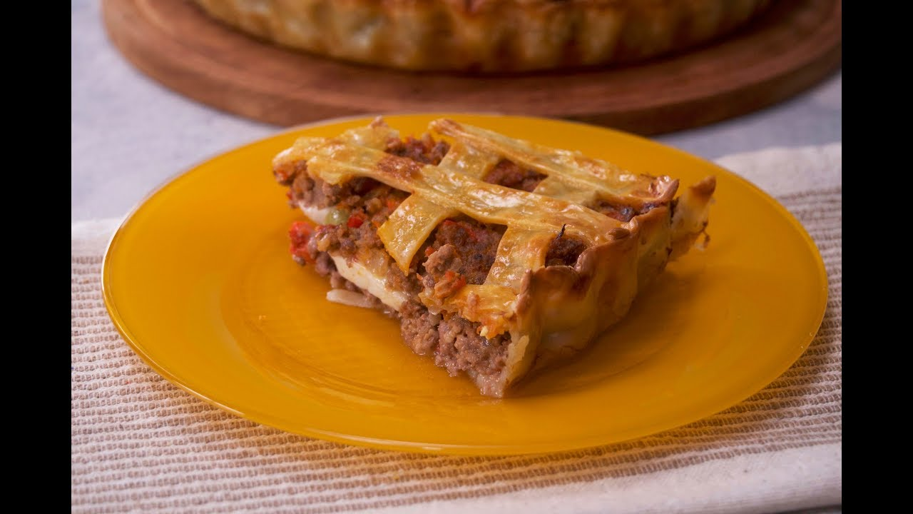 Pastafrola de carne - Cucinare