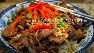 Jn Lemongrass Beef With Vermicelli - Bun Bo Xao Xa